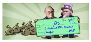 Warren Buffett Donation Check to IRS