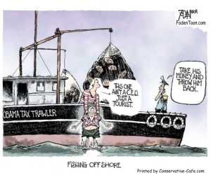 political-t-shirt-fishing-off-shore-obama-tax-trawler-featuring-a-cartoon-by-glenn-foden-734x614